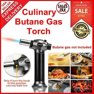 Details about Mini Creme Brulee Torch Bonjour Professional Culinary Chef  Kitchen Butane Gas