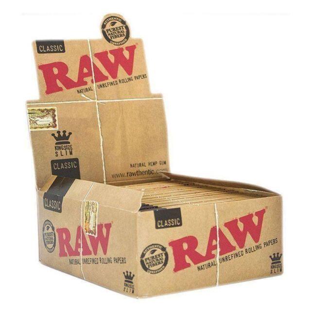 2 PCS x RAW Authentic Machine Rolling Paper King Size 110mm New Original
