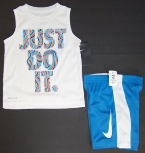 30e736608dd68 NWT BABY BOY TODDLER NIKE AIR DRI-FIT WHITE BLUE SLEEVELESS TANK TOP T SHIRT  2T ...