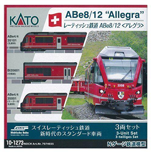Kato 10-1273 rhatische Bahn tren eléctrico serie Abe 8 12 Allegra 3-Coche N Scale