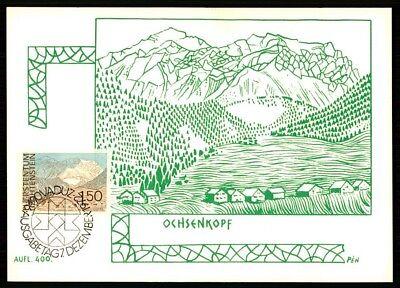 Ck08 Sonderabschnitt Liechtenstein Mk 1972 Ochsenkopf Maximumkarte Mc Cm Only 400 Made! Briefmarken