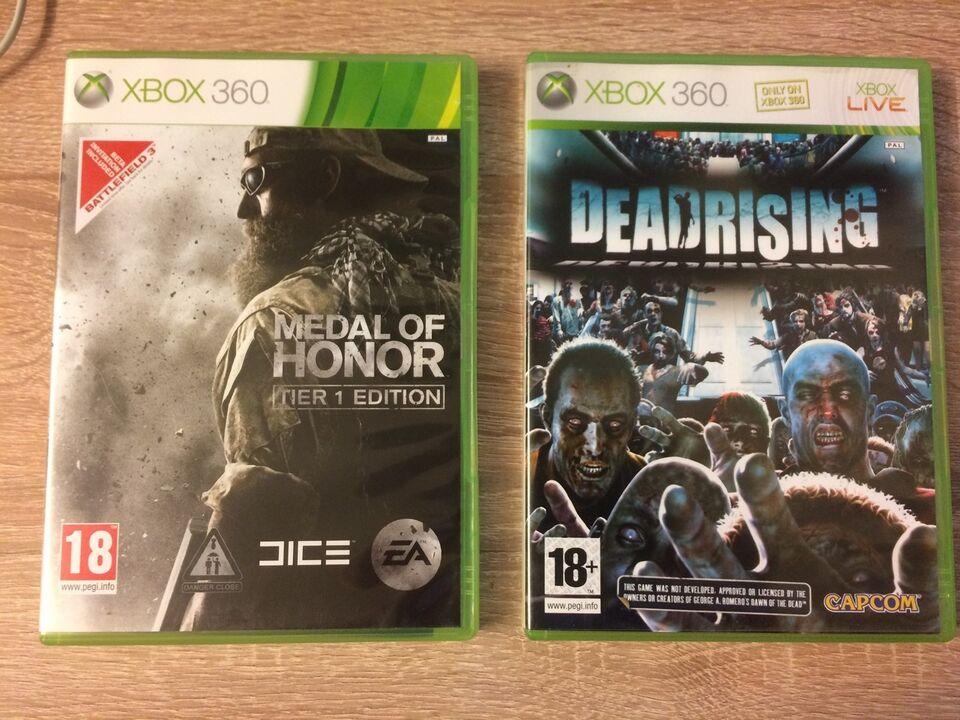 2 XBOX 360 spil til salg fede spiler, Xbox 360, action