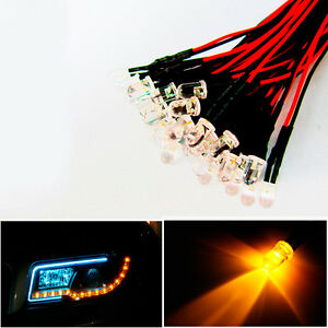 20x-Yellow-LED-Lamps-Lights-For-Headlights-DRL-Angel-Eyes-Fog-DIY-Decoration-New