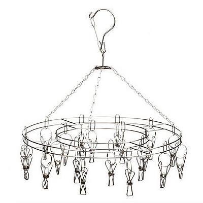 Full stainless steel clothes airer horse hanger Antislip Multi Clip Windproof