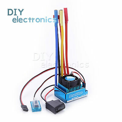 120A Sensored Brushless Speed Controller ESC for 1//8 1//10 1//12 Car US Stock