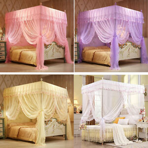 Four Corner Post Bed Canopy Mosquito Netting Or Frame Post Single