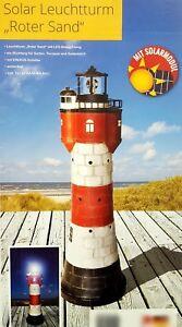 Leuchtturm-Roter-Sand-Solar-LED-Rundumleuchte-360-Blickfang-Gartendeko-80-cm