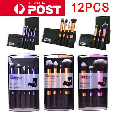 3 Set 12pcs Real Techniques Make Up Brushes Cosmetic Starter Kit Core Collection