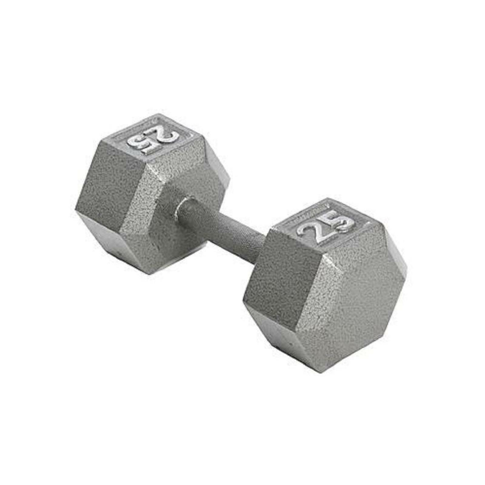 25 lb. Hex Dumbbell Non Slip Knurled Grip Weights Strengthen Training Upper Body