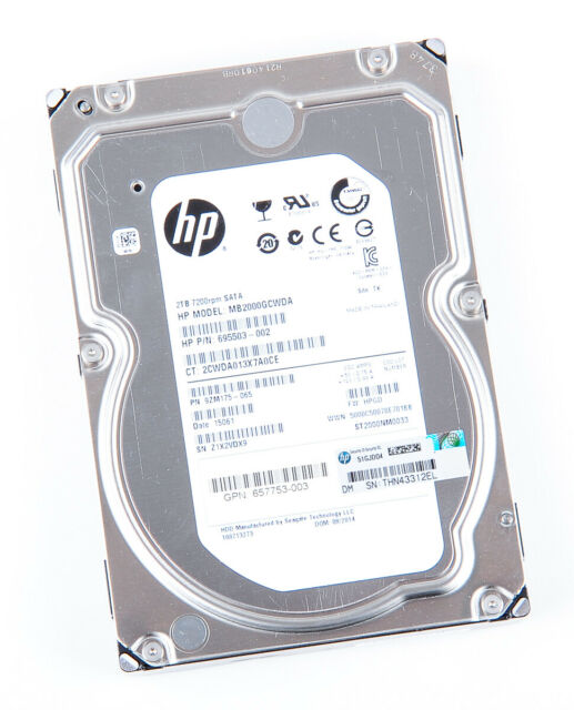 "HP 2tb 2000gb 6g 7.2k 7200rpm SATA 3 3.5"" LFF DISCO RIGIDO HARD DISK - 657753-003"