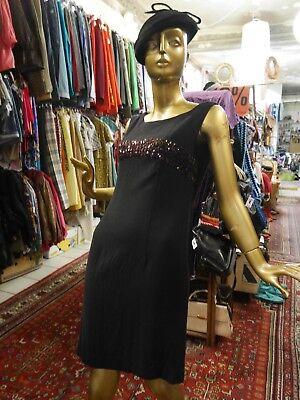 """Astuccio Abito S """"piccolo Nero"""" 50er Sera True Vintage 50s Sexy Lbd Dress-mostra Il Titolo Originale"""