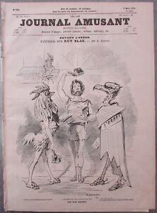 The-Journal-Fun-1872-Caricature-Odeon-Ruy-Blas-Drawings-Humourous