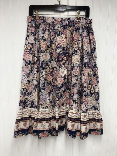 Vintage Floral cottage core prairie skirt