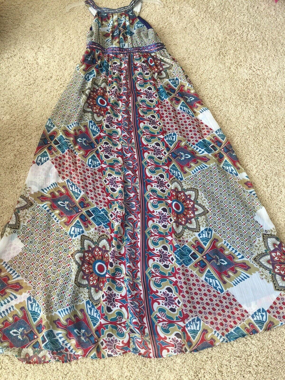 Women boho sleveless full lenght dress - image 6