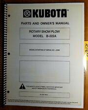 Kubota Mckee B 222a B222a Rotary Snow Plow Blower For B6100 B7100 Tractor Manual