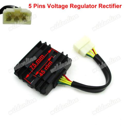 5 Pins Voltage Regulator Rectifier For LINHAI 260cc 300cc ATV UTV Moped Scooter