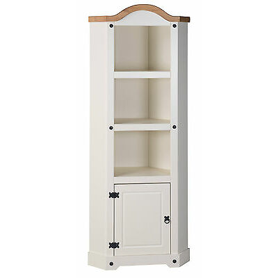 Corona Cream Corner Display Unit Bookcase Painted by Mercers Furniture®