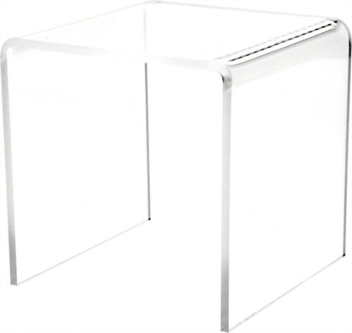 """5/"""" H x 5/"""" W x 5/"""" D 3//16/"""" thick Plymor Clear Acrylic Square Display Riser"""