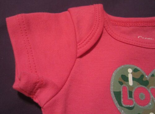 Baby/'s 1st First Pink Easter /& or Mother/'s Day Love a Man in Uniform Onesie NB-3