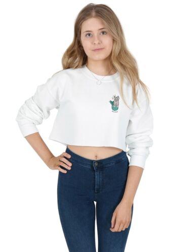 Purrmaid Pocket Crop Jumper Sweater Sweatshirt Cropped Top Funny Mermaid Cat