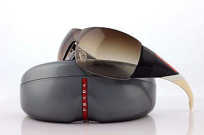 RARE NEW Genuine PRADA Sport Shield Beige Sunglasses PS 07HS SPS 07H 7OW 6S1 O7H