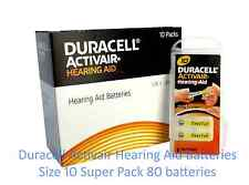 Duracell Hearing Aid Batteries Size 10, New Pack 80 pcs Super Fresh Expire 2019