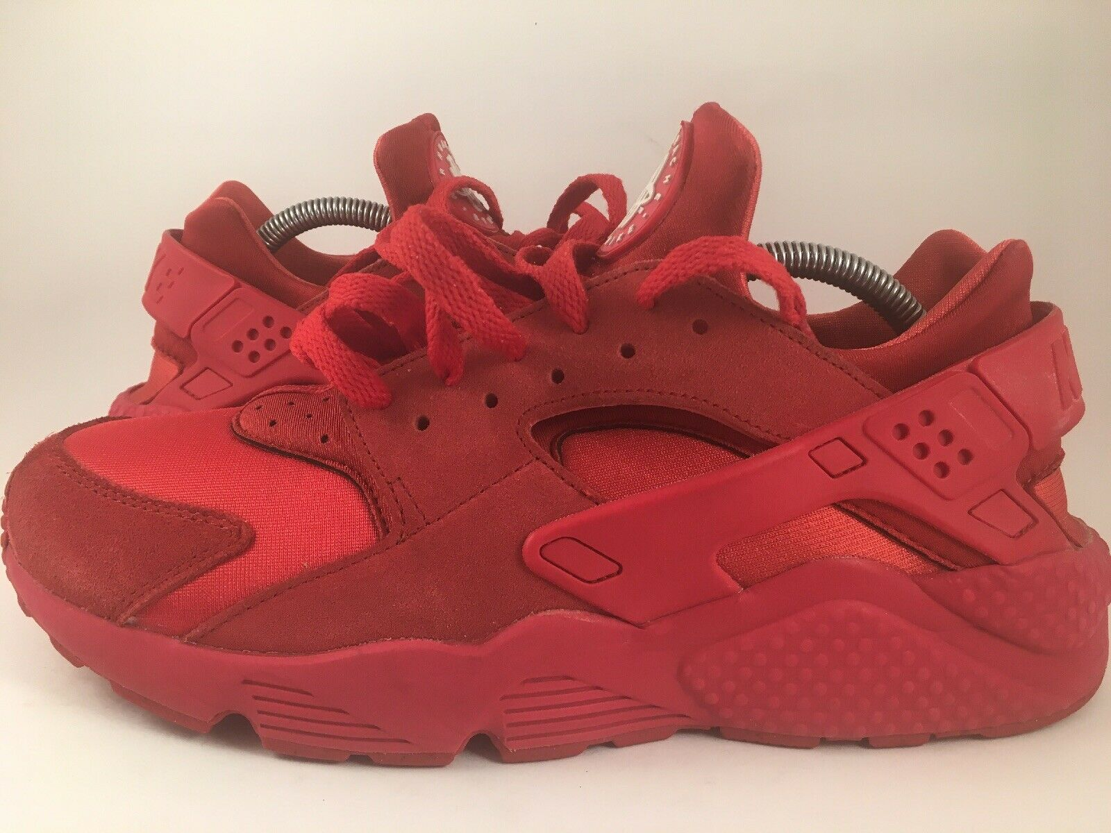 MENS NIKE AIR HUARACHE ID RED-RED SZ 10.5  RED OCTOBER