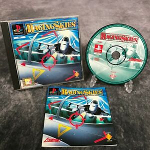 Raging-Skies-ps1-Playstation-1-PAL-Game-komplett-Black-Label-seltene-Flight-Sim
