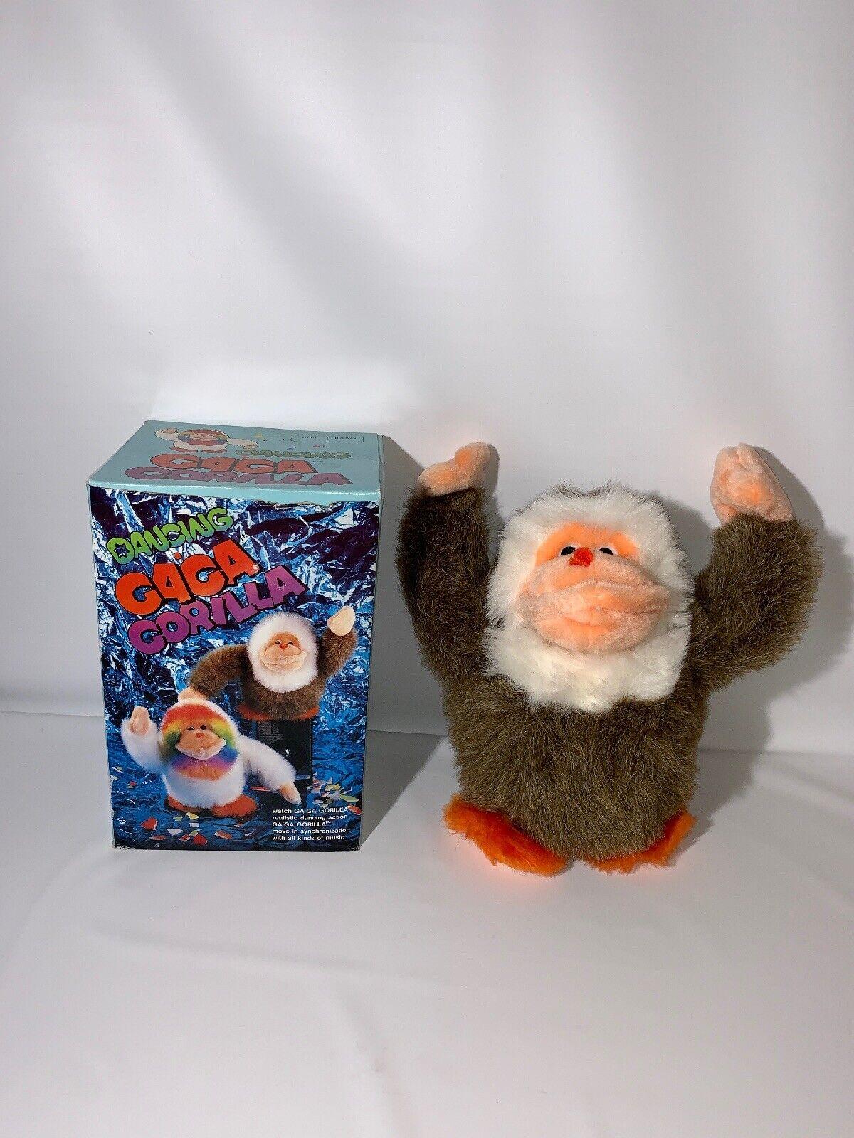Dancing GaGa Gorilla Plush Electronic Toy Metro 1986 Rare braun With Box Tested