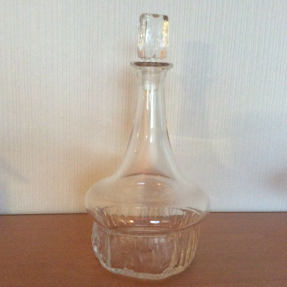 "Glas, Karaffel, Holmegaard ""Isflamme"""