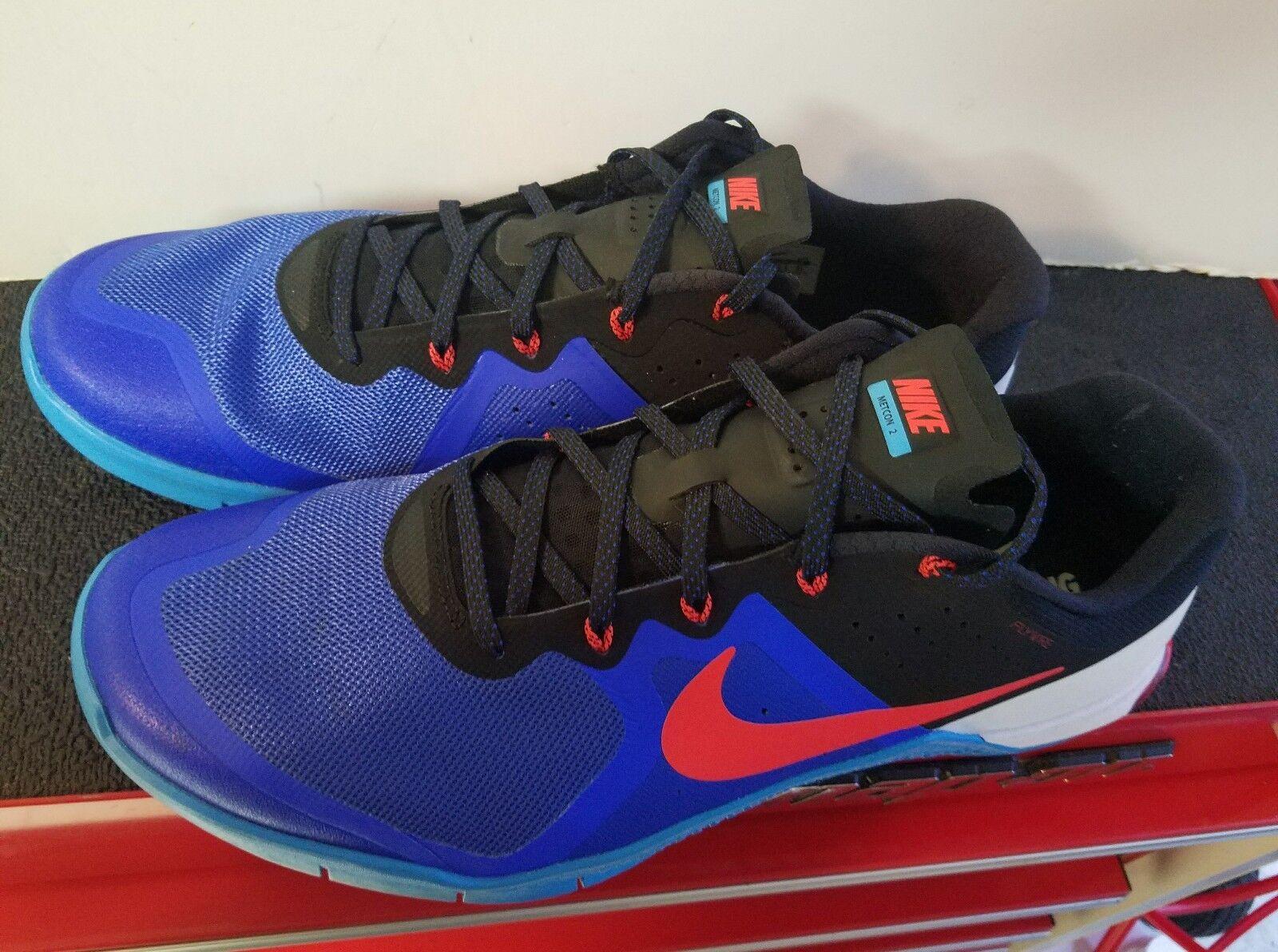 Nike Metcon 2 Fly Wire Men's 15 Racer Blue Black Crimson Style 819899-464