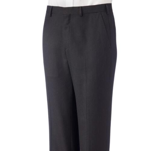 New APT 9 Men/'s Modern-Fit Flat-Front Pinstriped Dress Pants Black 40x30 40x32