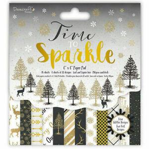 Dovecraft Temps Pour Sparkle Noël Papier Pack 12 X 6 X 6 Papiers-sample Pack-afficher Le Titre D'origine