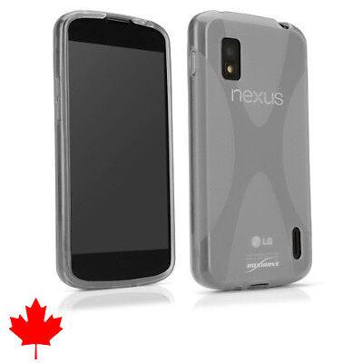 "LG Nexus 4 E960 Crystal Clear Soft Transparent Silicone TPU Case Cover 4.7"""