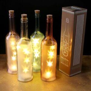 Farbige Dekorative Flasche Mit Led Licht Deko Beleuchtung Ebay