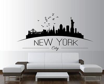 New York City decal City Sticker Skyscraper Wall Decal Window Sticker Room Vinyl sticker Building Decor house Sight Handmade t699