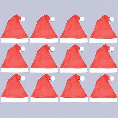 Pack Of 12 Felt Santa Hats - Christmas Prezzo Moderato