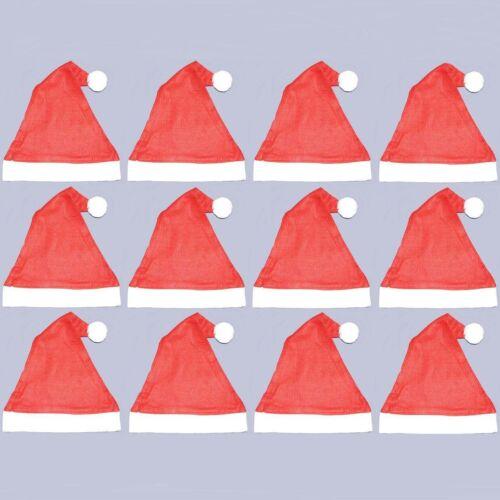 Confezione di 12 Cappelli feltro Babbo Natale