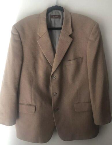 Tasso Elba 100% Camel Hair Classic Sport Coat Bla