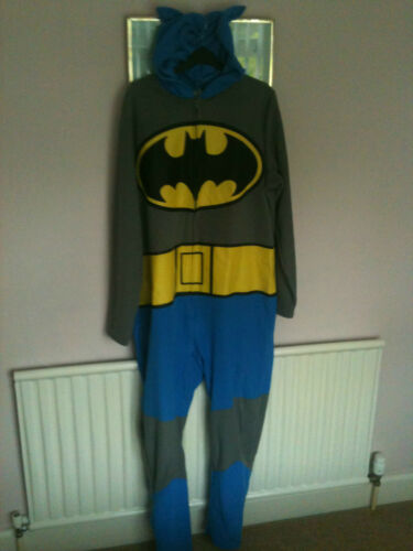 Fleece Mens 44 42 Hooded Batman Size Hooded Large Large Costume Fleece Size Onepiece 44 Mens Costume Onepiece Batman 42 Owxrfq8O