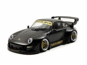 AUTOart-Porsche-RWB-993-78154-Matt-Black-Gold-Wheels-Model-Car-1-18