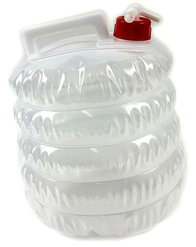 5 x COLLAPSIBLE WATER CARRIERS CONTAINERS CAMPING FESTIVAL PICNIC 5L BULK BUY UK