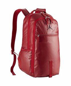 07def9d433 Nike Air Jordan Jumpman Red Black Multiple Pockets Backpack BP Bag ...