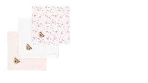 STEIFFbär in my heart  Spucktücher im 3er Pack,weiß rosa 50x50cm