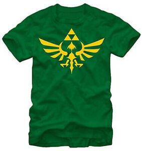 Nintendo-Zelda-Triforce-Dark-Green-Men-039-s-Graphic-T-Shirt-New