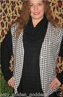 Dairi Checkerboard Black And White Moroccan Cotton Gypsy Boho Vest S M L Z00