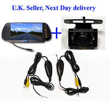 Wireless Wide Angle Parking Reversing camera 7'' Mirror monitor LCD next day