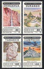 Mexico 1982 Tourism/Waterfall/Pyramid/Rocks/Nature/Sculpture 4v set (n24971)