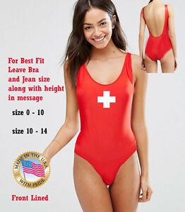 Details about NEW ONE PIECE INSPIRED LIFEGUARD Red One Piece Lifeguard swimsuit