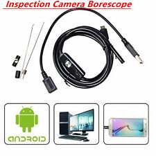 7mm USB Endoscope Inspection Camera Borescope 2m 6LEDOTG  For Android Waterproof